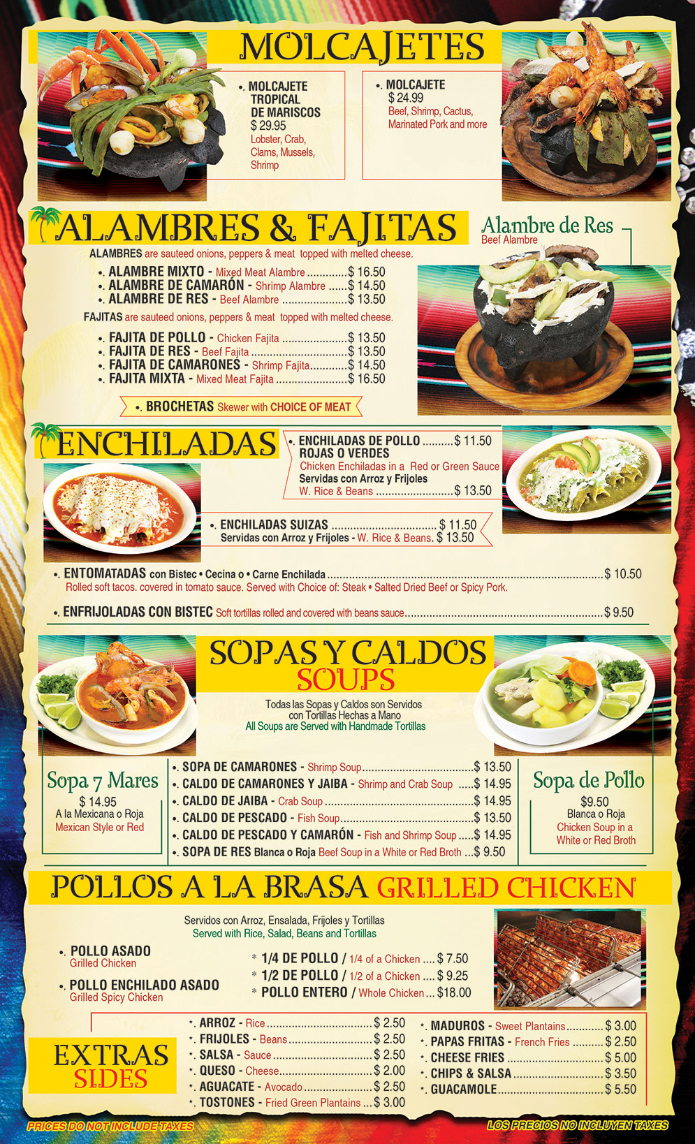 El Gallo Tropical Menu Page 3