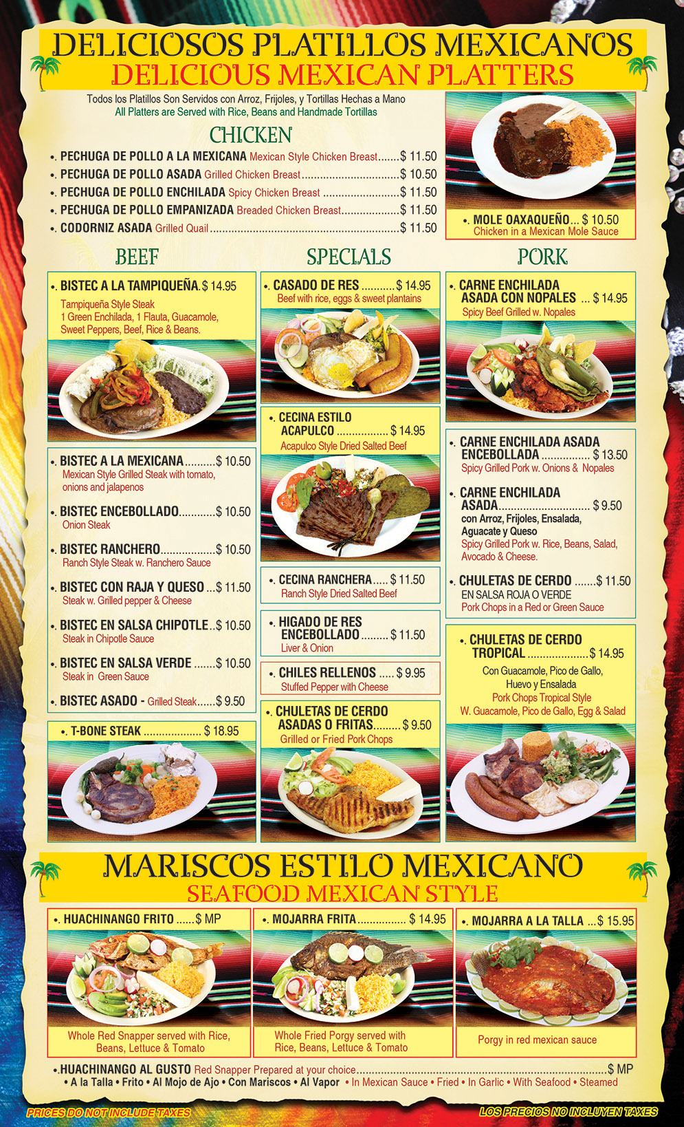 El Gallo Tropical Menu Page 4