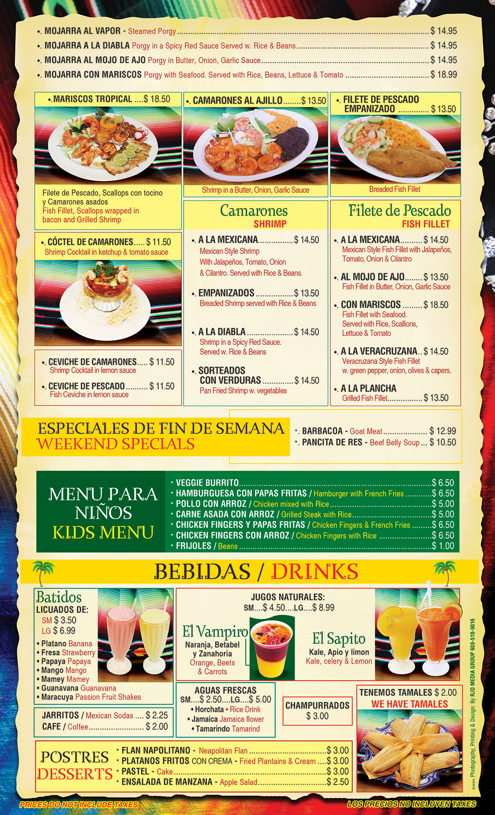 El Gallo Tropical Menu Page 5